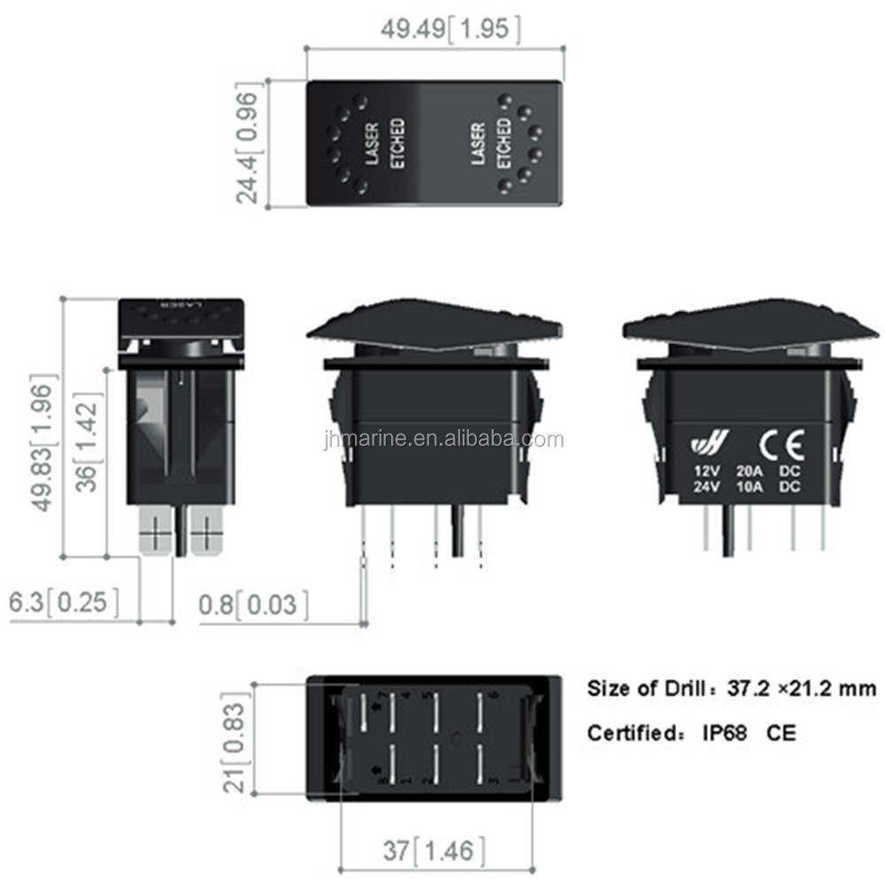 Marine Dual Rocker Switch 12v Led Rocker Switch Marine Boat Rocker ...