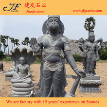 Antique Black Lord Granite Stone Hanuman Statues