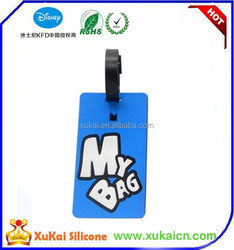 New style phone shaped pvc silicone fabric leather luggage tags and stickers