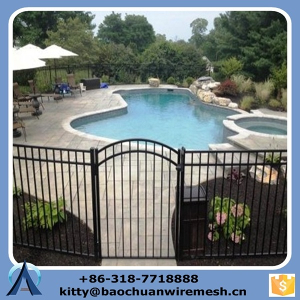 Powder Coated Steel Child Safety Swimming Pool Fence Steel Flat Top Swimming Pool Fencing Buy