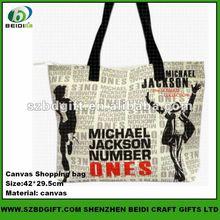 Michael Jackson Fashionable Canvas Shopping Bag