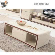 inflatable table glass top tea table with beige high gloss design
