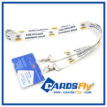 2015 Hot Sale Custom Heat Transfer Polyester Lanyard with card holder