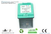 Inkjet Cartridge C8766EE/#343 for 5740/6450/6840/9800/Psc 1610/photosmart 8750
