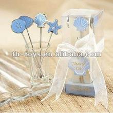 Wedding gift Wedding Favor Thanking Gift Furit Fork Seaside Hors d'oeuvre Picks