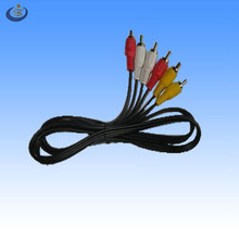 3 male RCA to 3male RCA jack AV cable
