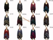 Pas cher écharpe poncho motif crochet knit poncho pour les femmes