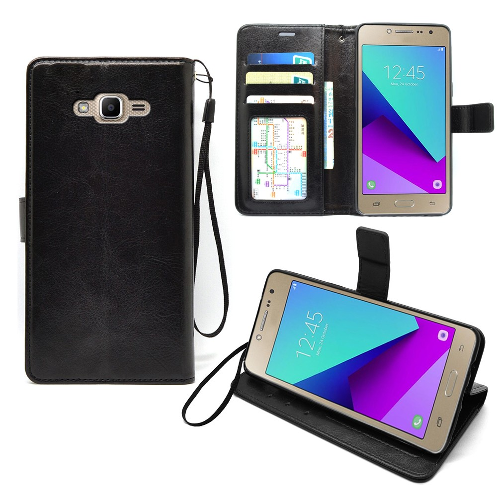 Luxury Leather Stand Flip Cover For Samsung Galaxy J2 PrimeFor Grand Prime Plus Case
