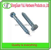 c1022 steel hex head penis plug screw for wood