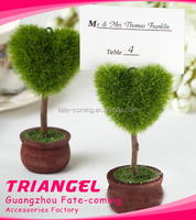 Heart Shaped Green Tree Place Card Holder For Party