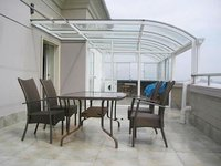 Glass awnings canopies