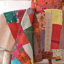 Indian Vintage kantha Quilts-Indian bohemian vintage Tribal Kantha Throws designs at discount prices