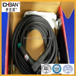 Tig rubber coated pipe/vacuum pipe/hdpe black pipe