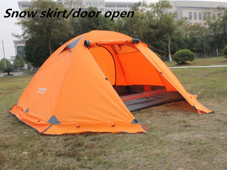 Product details. Flytop 4 Seasons tent ... & Flytop 4 Seasons tent double layer 2 person aluminum rod snow skirt