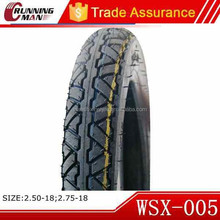 High Quality Wholesale Rubber Motorcycle Tyre 2.50x18