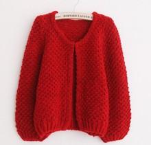 d60267h Autumn women's short cardians Korean loose long sleeve sweater Wild comfertable coats