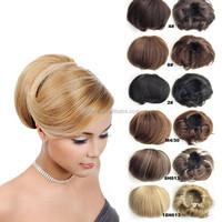 Bride Hair Bun Synthetic Hair Chignon Ponytail Holder Hepburn's Drawstring Hair Extension