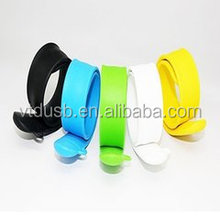 Customized colorful wrist strap usb flash drive