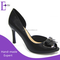 china custom made wholesle shoes/ peep toe high heel shoes women fashion 2015