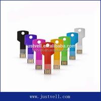 Key shape 8GB 16GB 32GB 64GB metal usb flash drive pen drive pendrive U disk Thumb memory stick multiple colours