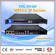 High compatibility MPEG-2 IP encoder with CVBS,S-Video,SDI,AES,EBU input