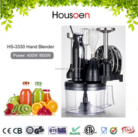 800W new design electric hand blender food mixer with rubber switch cover