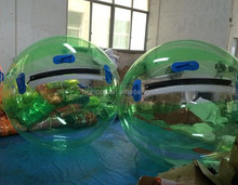 High quality PVC Inflatable Green with Clear Water Ball