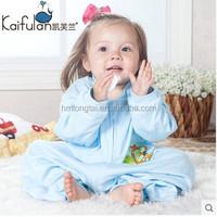 100% cotton anti kicking infant baby child foot sleeping bag for four seasons