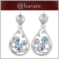 Newest design pearl rhinestone custom dangle earrings