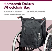 Large Storage Luxury Wheelchair Bag Mesh & Side Pocket Power Electric Wheel Chair Bag with Padded Loop for Handicapped