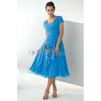 KK0140 Sexy Royal Blue Plus Size Cocktail Dress