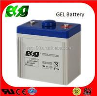 AGM GEL seal lead acid battery 2V 100AH hybrid battery for solar wind power system