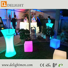 New products any size 16 color changing rechargeable modern design new center table for nightclub