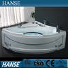 HS-B239 corner bath with handl/ bath vasca/ bathtub massage jet covers