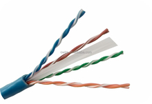 CMR rate Pass fluke test 23awg,Cat6a Cable Blue color 500Mhz frequency