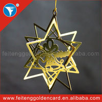 Newest Fashion Europe style 3d brass ornament for Christmas souvenir gifts,OEM 24k golden 3d brass ornament arts &crafts items