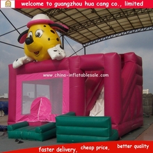 2016 Newest Wholesale Funny Dog / puppy Creative Design Inflatable Bouncers/Jumpers/Moonwalks/combo with slide
