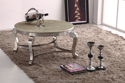 CT07 artificial marble coffee table,stainless steel legs