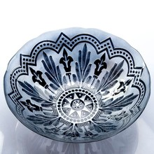 Handmade wholesale color glass Charger Plate
