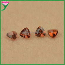 3*3mm charming loose fat triangle cut natural red garnet