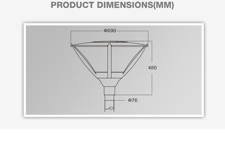 AC120-277 volt CE approved aluminum IP65 project led garden light
