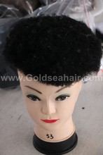 Afrowellung mit grauen haaren, toupet, haar-system