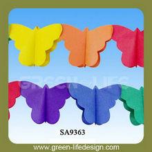 festival de decoraciones del partido de la mariposa de papel guirnalda
