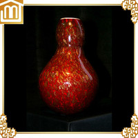 Hot selling hand blown slanted clear glass vase with high quality
