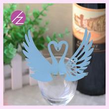 Laser cut glass vase place card holder wedding place cards JK-50 Haoze brand