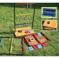 3 in 1 game table with washer box toss game / ladder toss