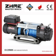 12500lbs electric power engine remote control tractor winch