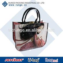 reutilizable las bolsas que hace compras, lona impresa empaqueta