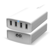 4 Port 8A USB Wall Charger AC power adapter 40w For Andriod Tablet,iPhone Samsung iPod White