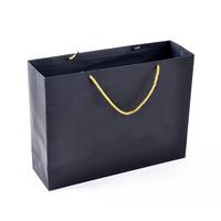 OEM with logo factory wholesale gift shopping custom black cardboard paper bag